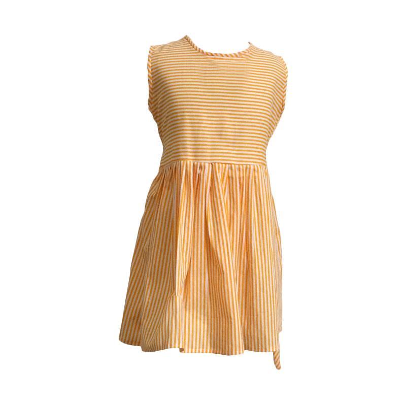 Kirana Kids Wear Raisa Dress Anak - Yellow line