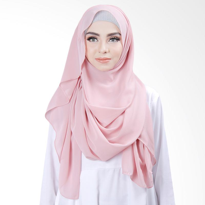 Cantik kerudung Khloe Slip In Jilbab Instant - Light Dusty Pink No.7