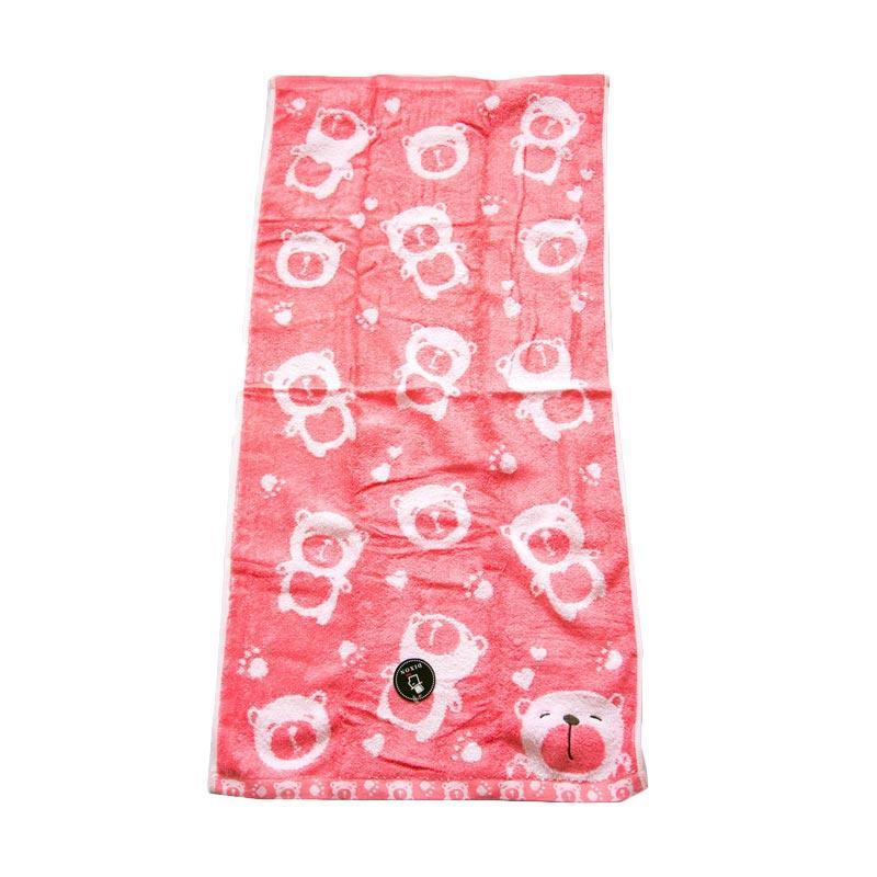 Dixon Smile Bear 7083 Handuk Sport - Pink [35 x 80 cm]
