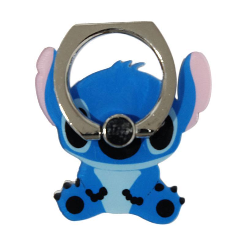 QCF 3D Animasi Lilo Stitch Ring Stand Holder Smartphone