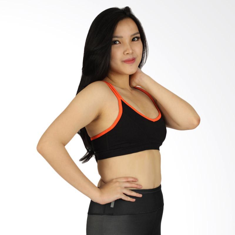 VOGOStrappy Opeach Sport Bra Wanita - Black [VBR001043]
