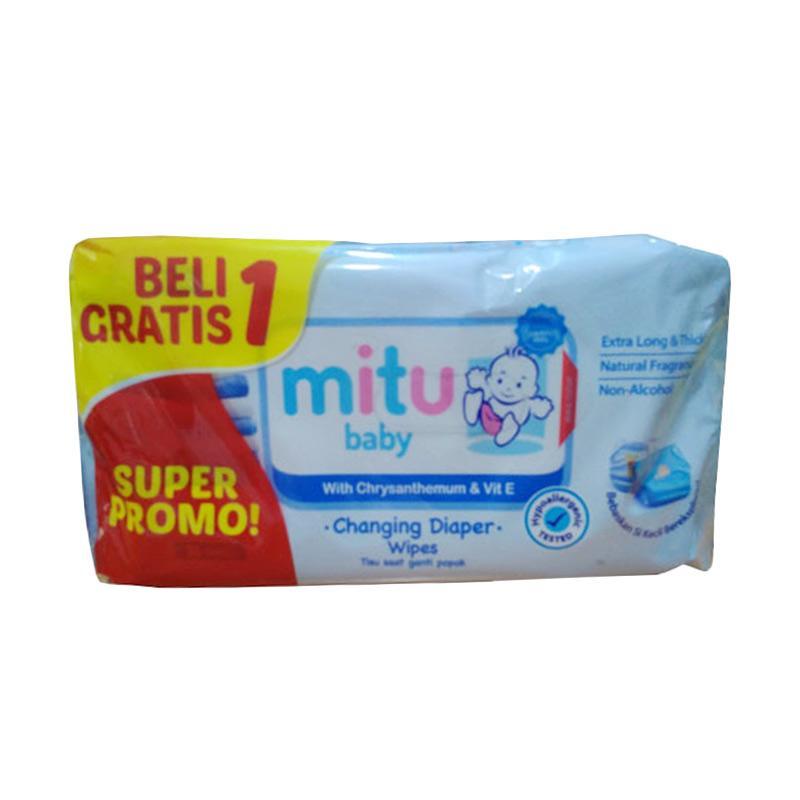 Jual Mitu Baby Pack 50s Ganti Popok Tisu Bayi - Biru (Beli 1 Gratis 1) Terbaru - Harga Promo Juli 2019 | Blibli.com
