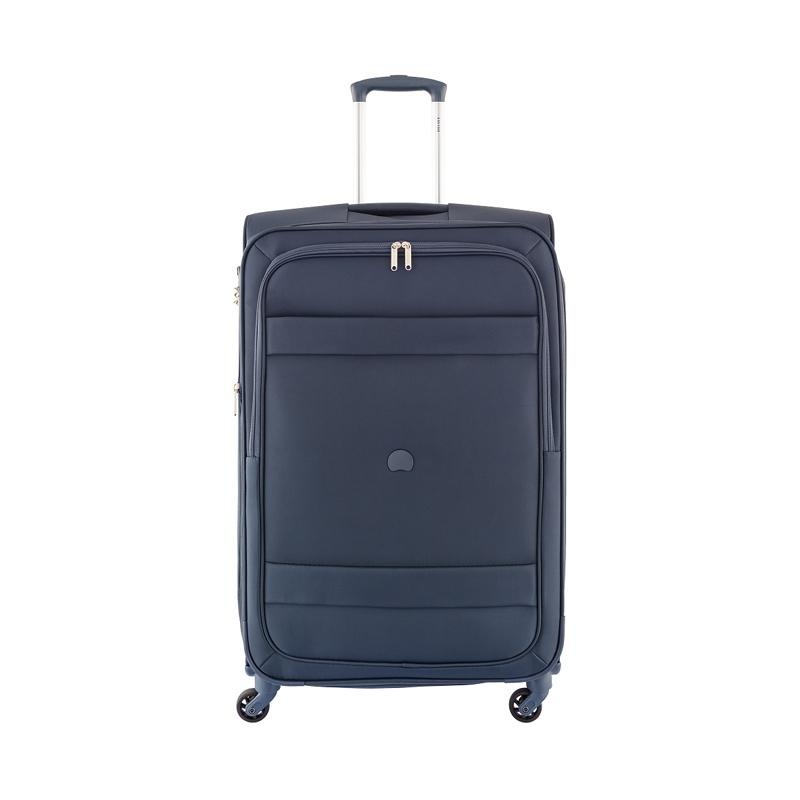 harga GOTF - Delsey Indiscrete 4Wheels Soft Case Trolley Bag - Biru [78 cm/ Medium] Blibli.com