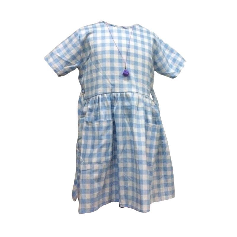Kirana Kids Wear Dona Dress Anak - Aqua Blue Square