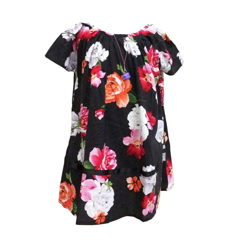 Kirana Kids Wear Lula Dress Anak - Black Rose