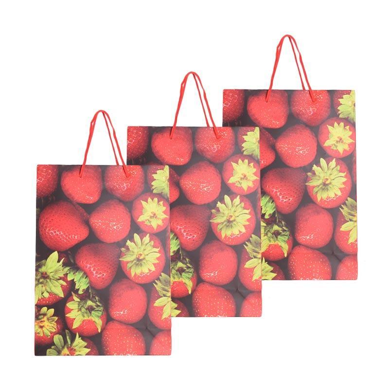 Karisma 742374 Kemeja Strawberry Shopping Bag [3 pcs]