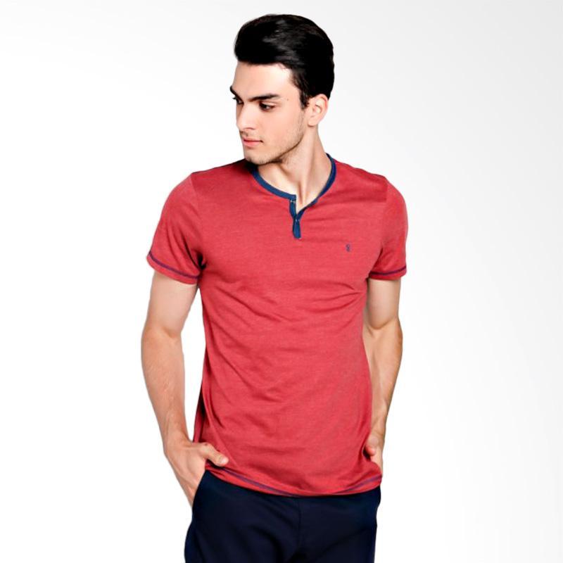 Greenlight Men 5312 T-Shirt Pria - Red
