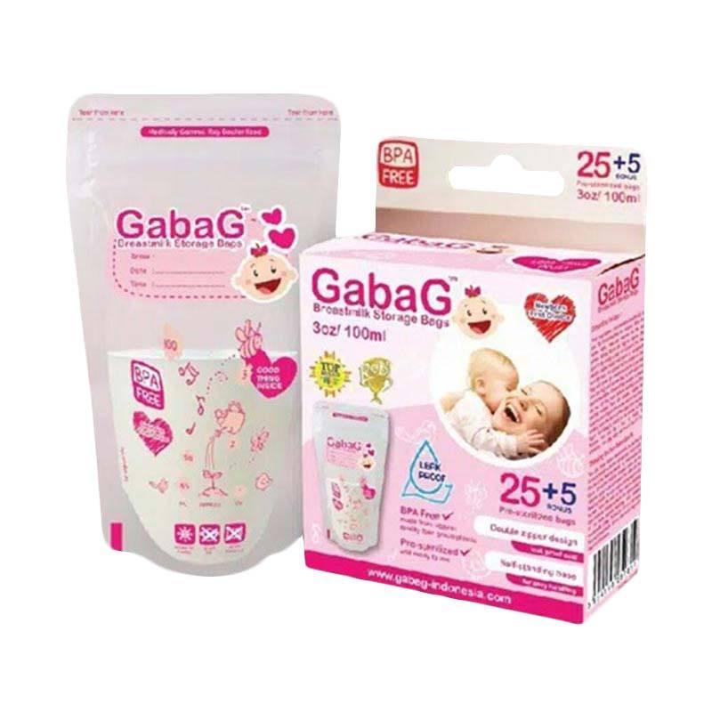 Gabag Breastmilk Storage Bag - Pink [100 mL]