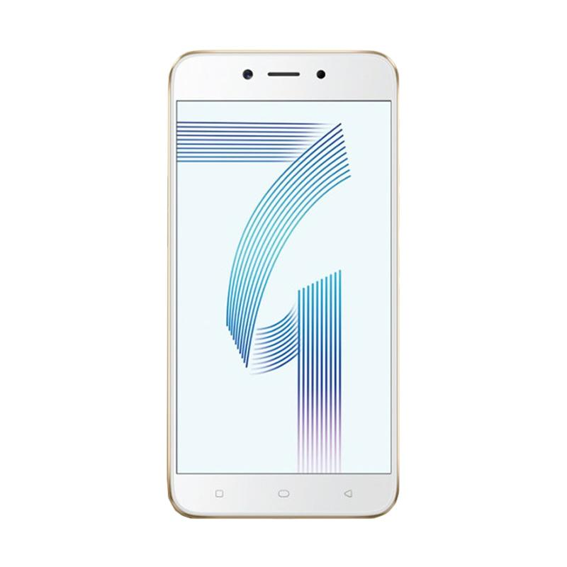 harga OPPO A71 - Gold  Free Speaker Bluetooth & I-Ring Blibli.com