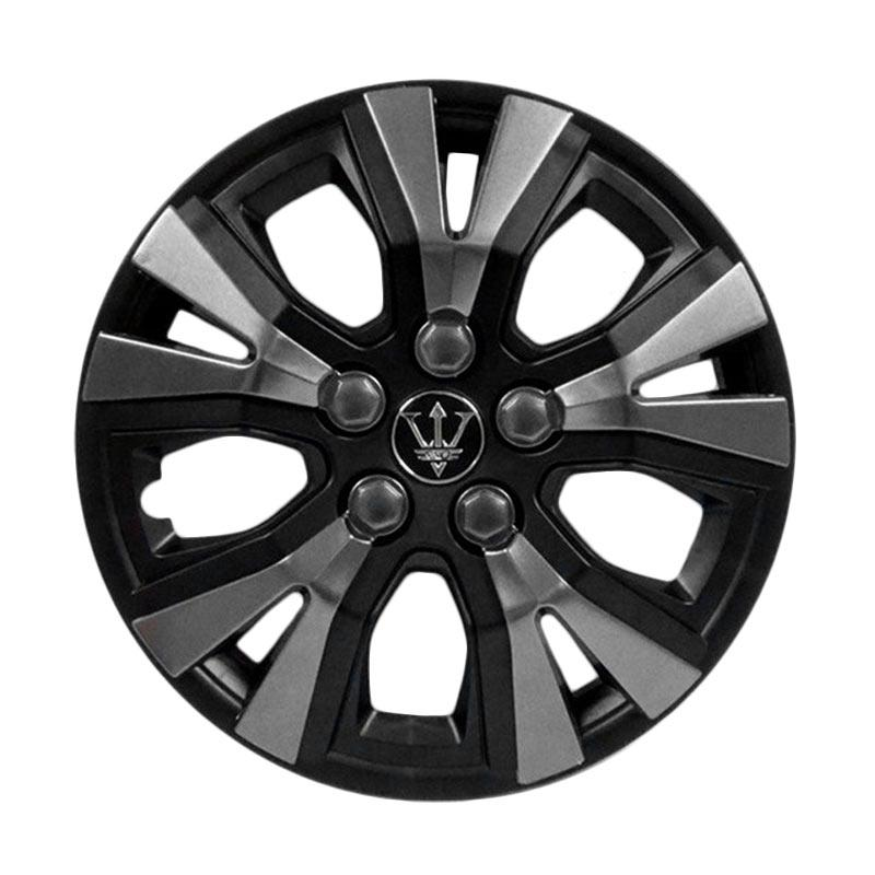 SIV WAY-1GR-13 Inch Sport Wheel Cover Evolution Design Set Dop Roda Mobil - Black Grey