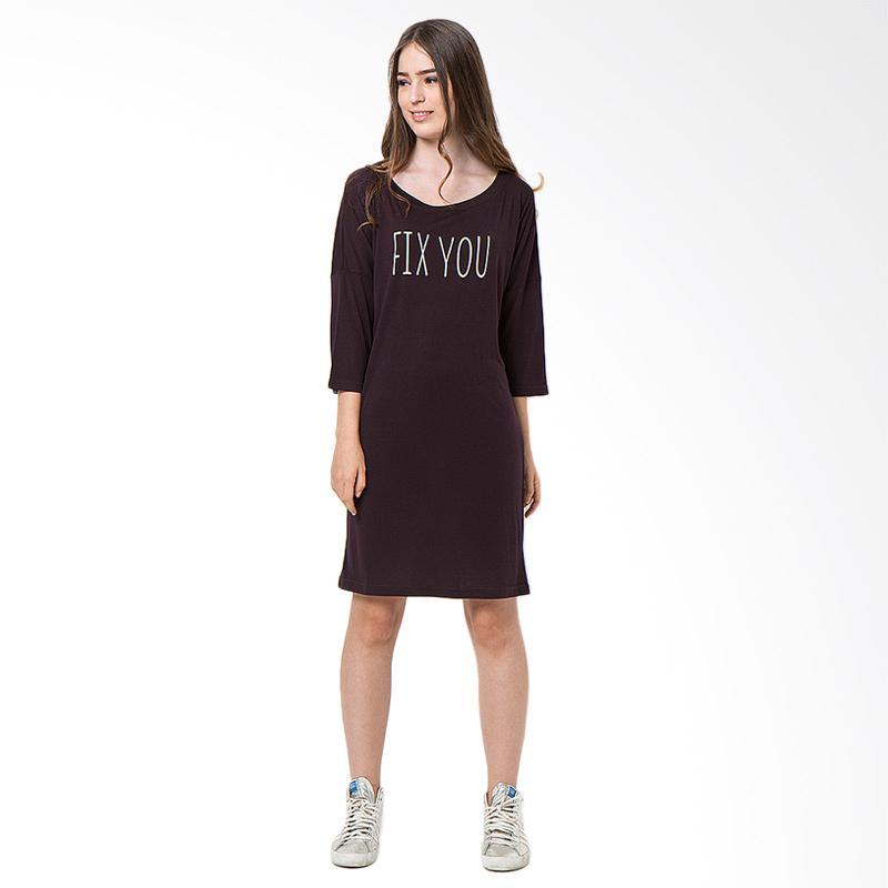 Boontie Fix You Dress Wanita - Coklat Gelap