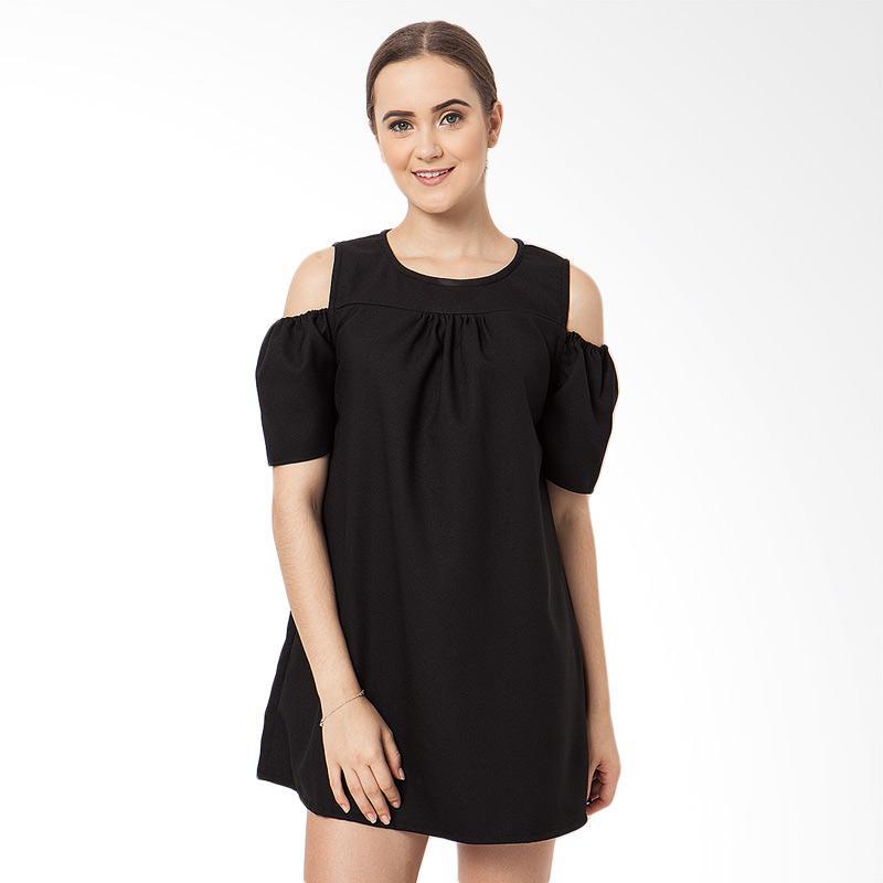 Boontie Sabrina Dress Wanita – Hitam