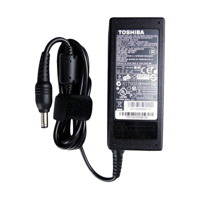 harga Toshiba Adaptor Charger for C600/C640/U400/L640/C850/L735/L645 [100-240 V-1.5A/65 W/5.5 x 2.5 mm] Blibli.com