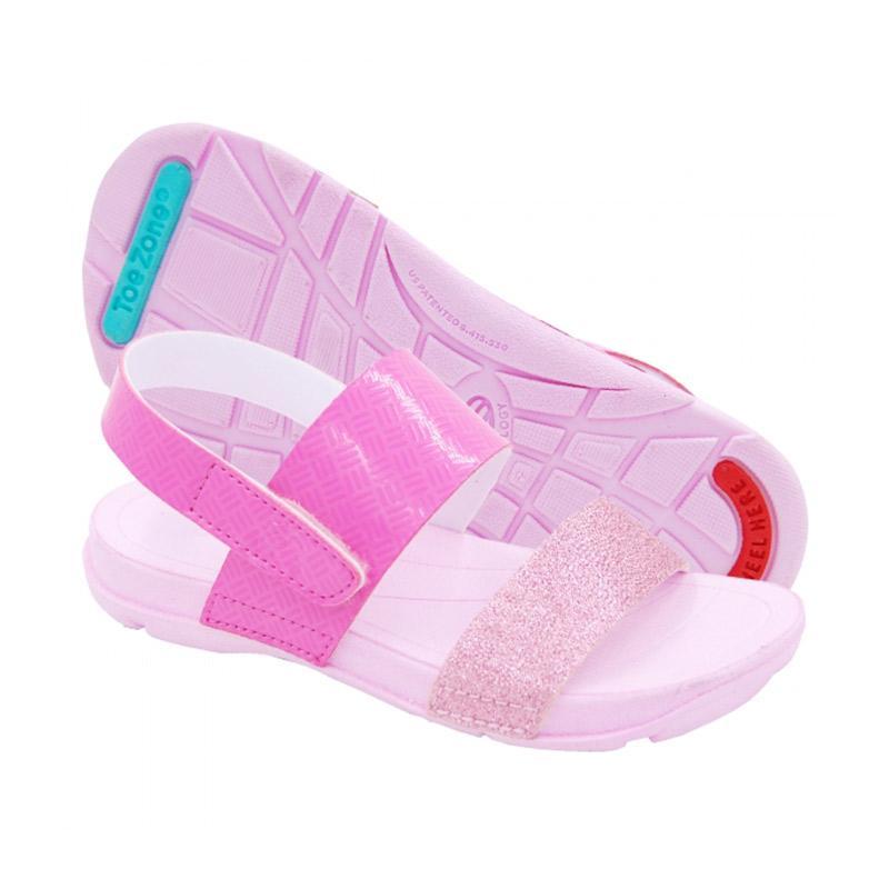 Toezone Kids Carly Ch Flora Glitter Sepatu Sandal Anak - Pink