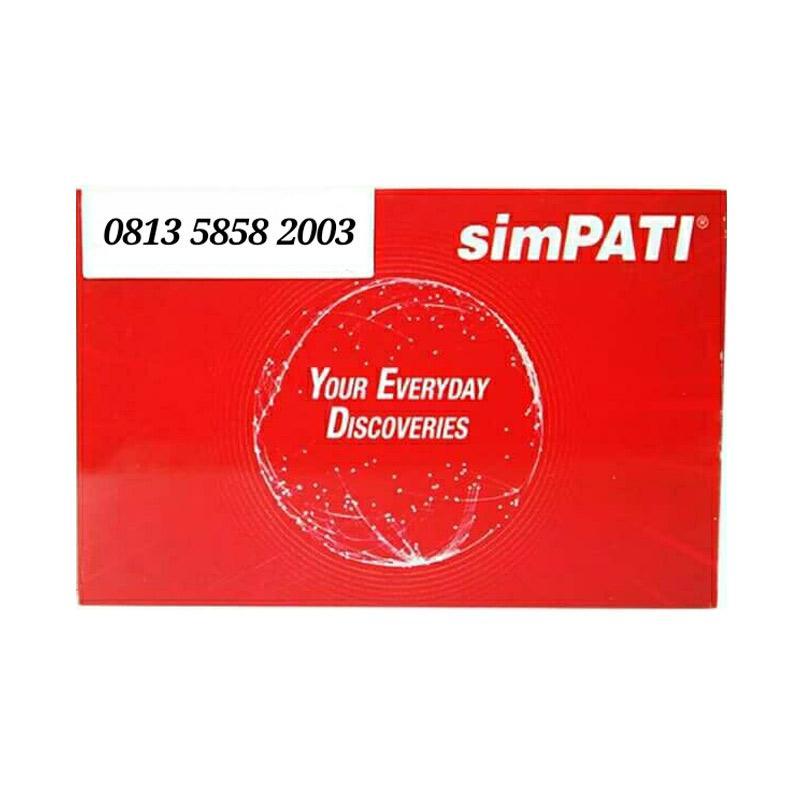 Telkomsel Simpati Nomor Cantik 0813 5858 2003 Kartu Perdana [4G]