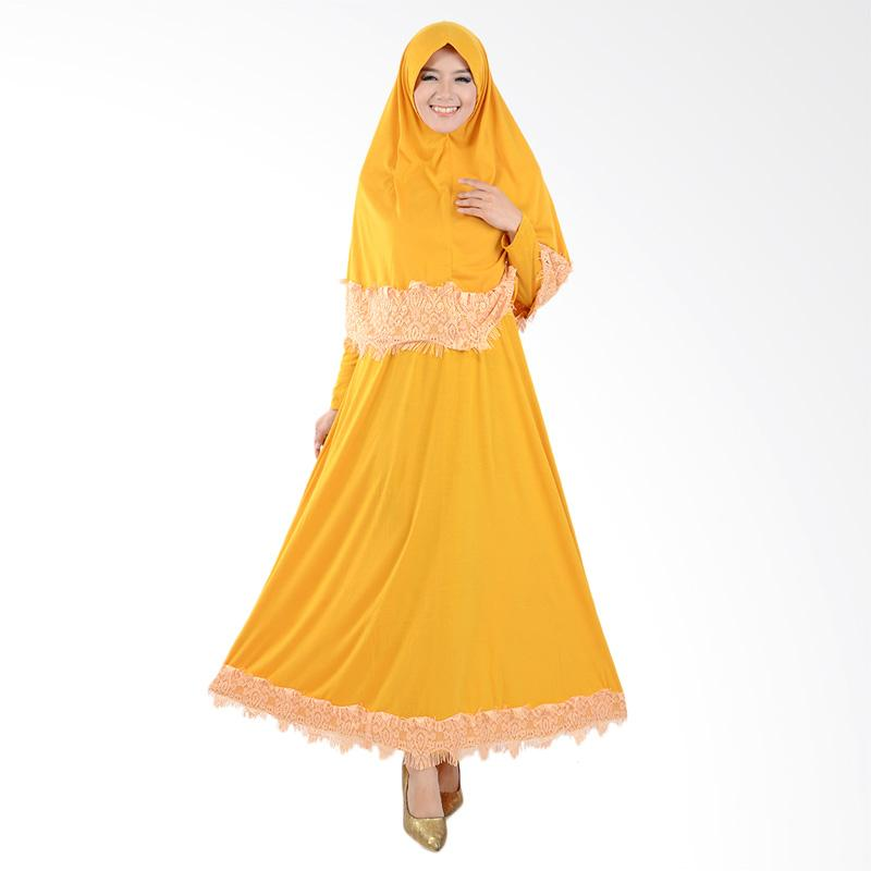 harga Jfashion Variasi Renda Maxi Hasna Plus Hijab Long Dress Gamis Muslim Wanita - Kuning Blibli.com