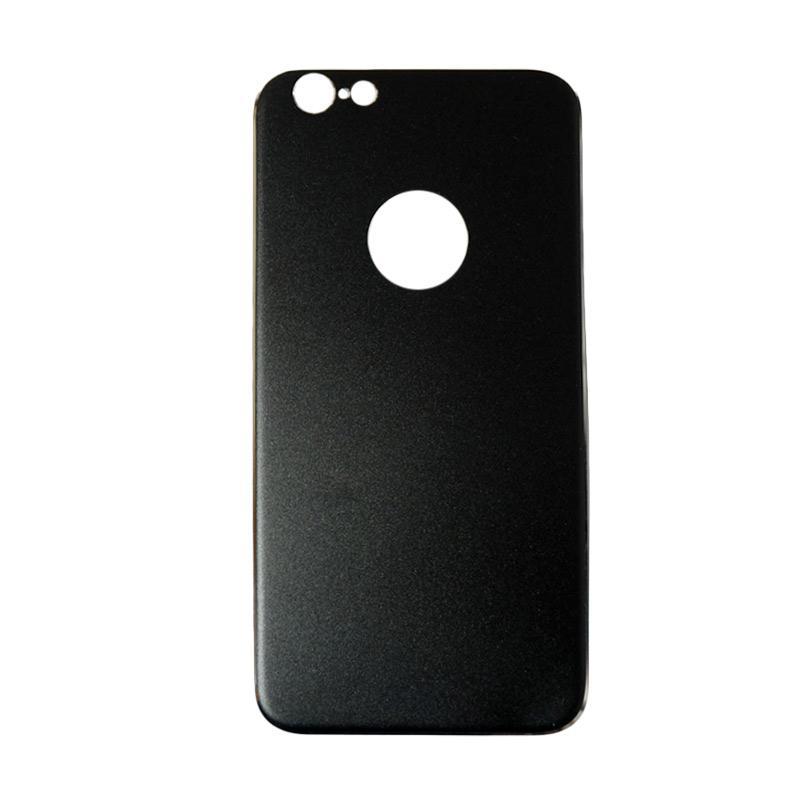 QCF Tempered Glass Aluminium Alloy Back Protector (Belakang Saja) for iPhone 6 / iPhone6 / Iphone 6G / 6S Ukuran 4.7 Inch Pelindung Belakang - Hitam