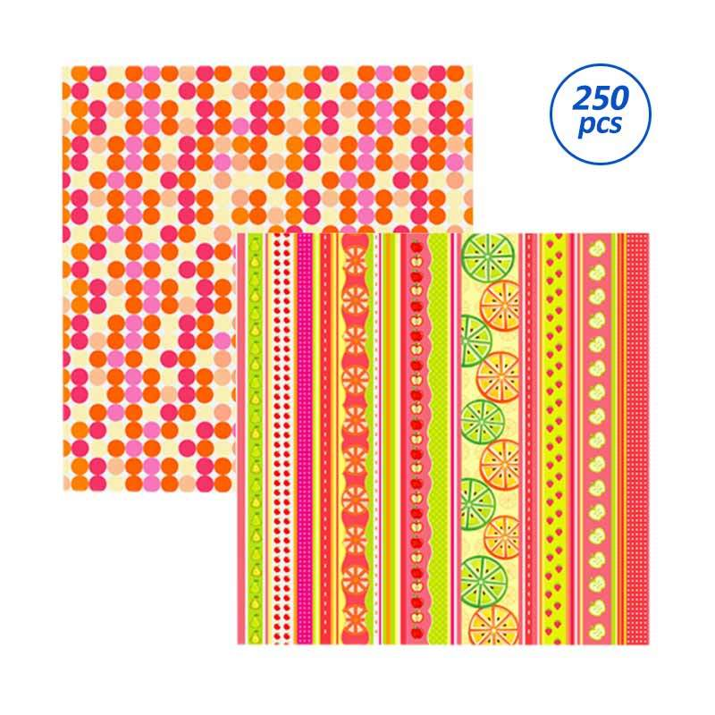 SP125 Fruits Scrapbooking Paper - [25 Sheets/bungkus /10 bungkus/package]