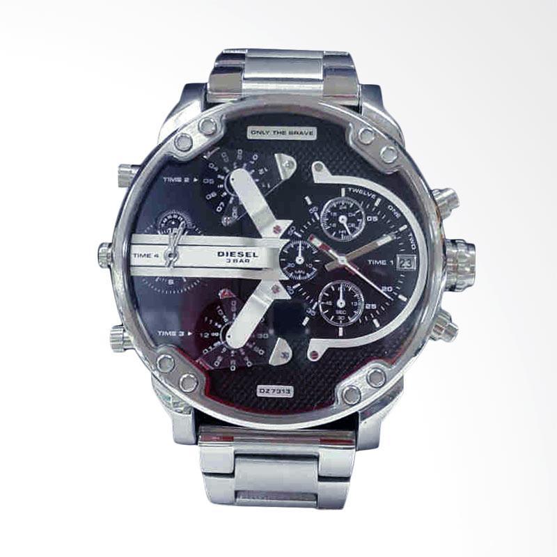 Diesel Men's Business Mechanical Watch Jam Tangan Pria - Silver Black