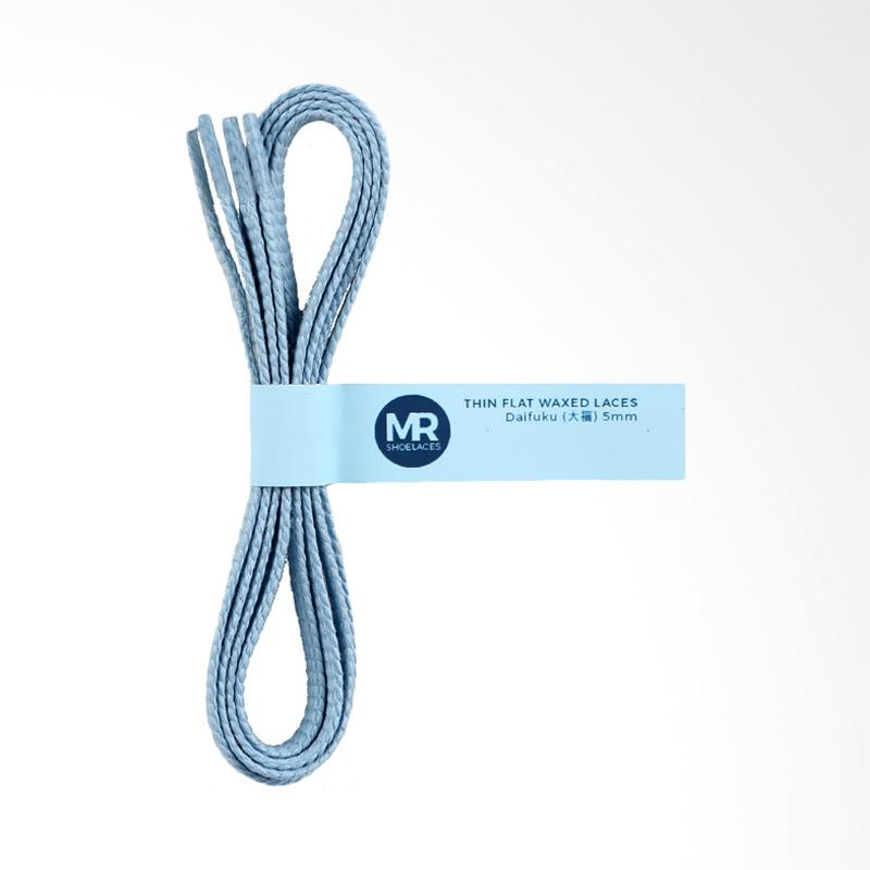 Harga Mr Shoelaces Lilin Gepeng Tali Sepatu Daifuku Light Blue 5 mm .