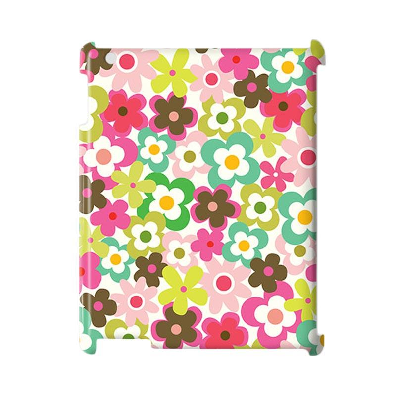 Premiumcaseid Cute Colorful Hardcase Casing for Flower iPad 2/ 3/ 4