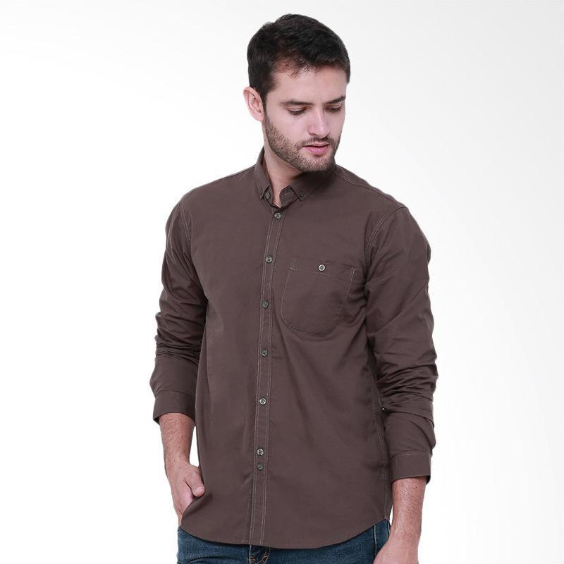 Tendencies Plain Olive Shirt Kemeja Pria