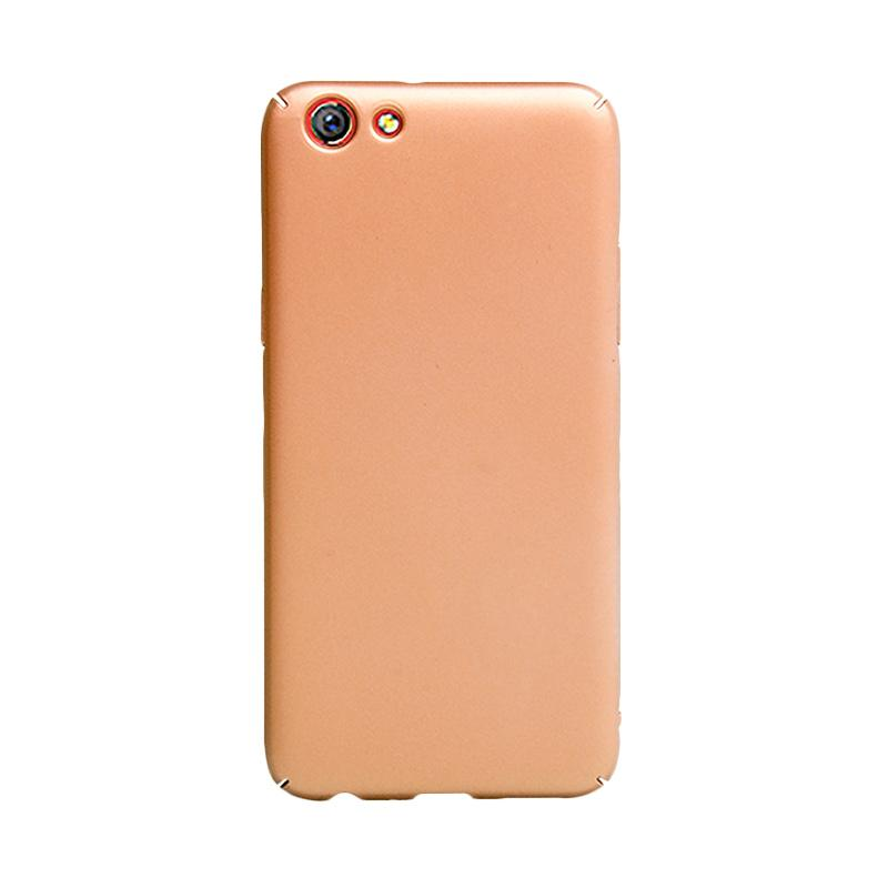 OEM Baby Skin Ultra Thin Hardcase Casing for Oppo F3 - Gold