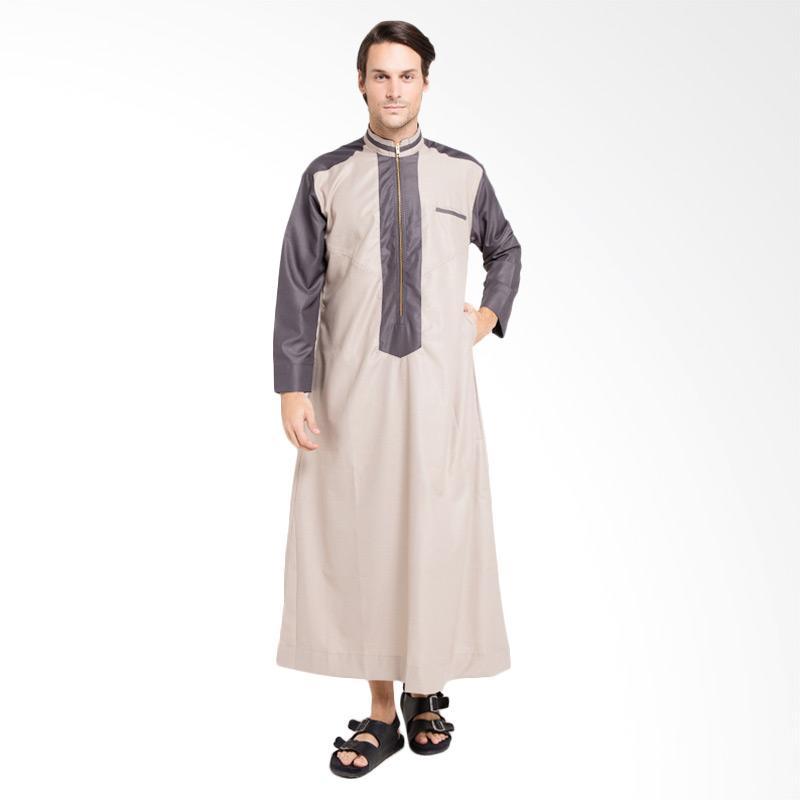 Allev Izzat Thobe Baju Muslim Pria - Mocca Abu