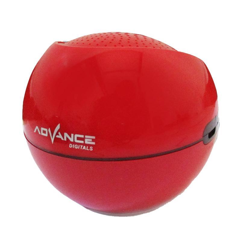 Advance ES030R Mini Portable Support Handsfree Bluetooth Speaker - Merah