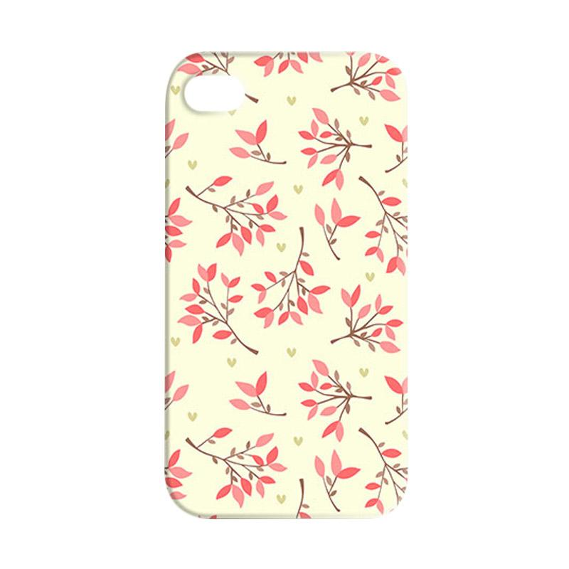 Premiumcaseid Cute Floral Seamless Shabby Hardcase Casing for iPhone 4 or iPhone 4s