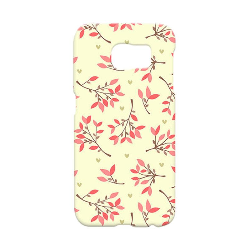 Premiumcaseid Cute Floral Seamless Shabby Hardcase Casing for Samsung Galaxy S6 Edge