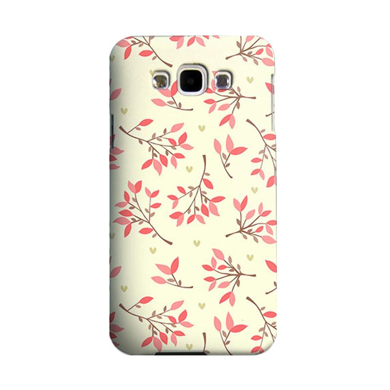 Premiumcaseid Cute Floral Seamless Shabby Hardcase Casing for Samsung Galaxy E5