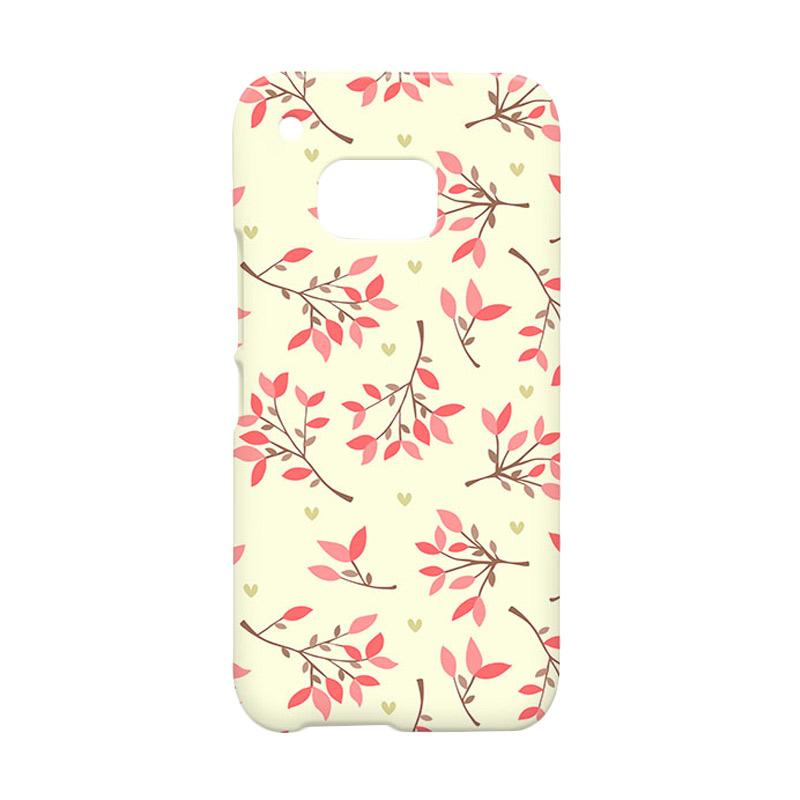 Premiumcaseid Case Cute Floral Seamless Shabby Hardcase Casing for HTC One M9
