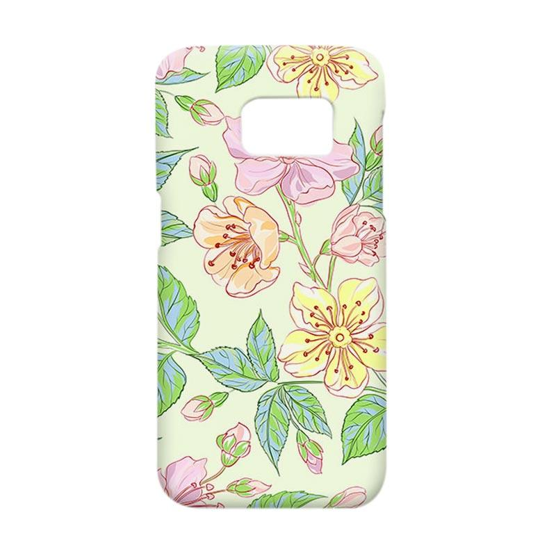 Premiumcaseid Beautiful Flower Wallpaper Hardcase Casing for Samsung Galaxy S7 Edge