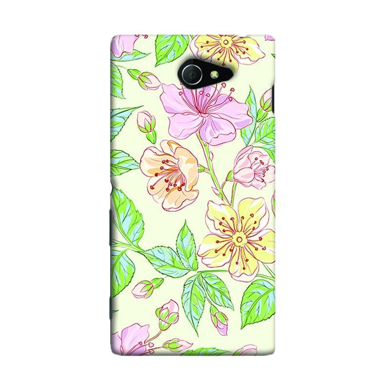 Premiumcaseid Beautiful Flower Wallpaper Hardcase Casing for Sony Xperia M2