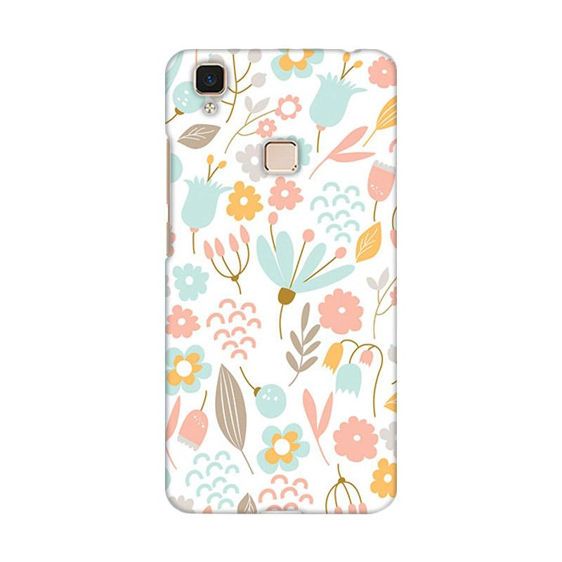 Premiumcaseid Cute Pastel Shabby Chic Floral Hardcase Casing for Vivo V3