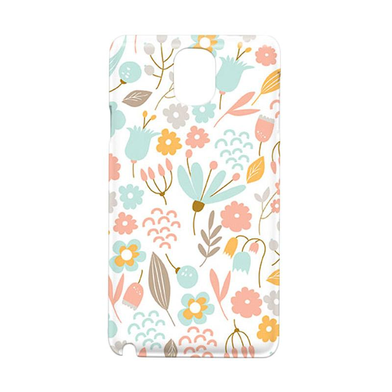 Premiumcaseid Cute Pastel Shabby Chic Floral Cover Hardcase Casing for Samsung Galaxy Note Edge