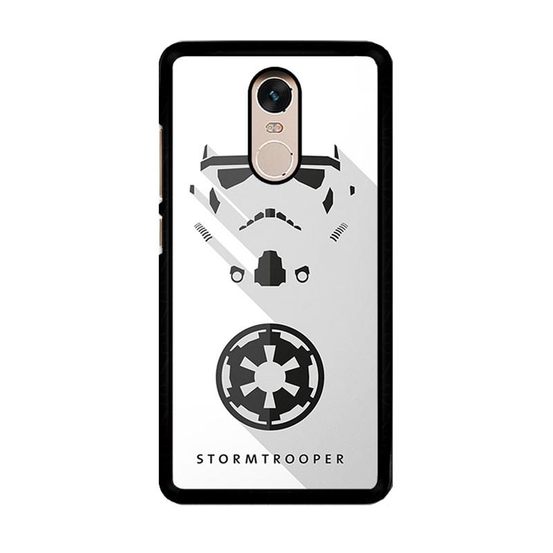 Flazzstore Stormtrooper O0246 Custom Casing for Xiaomi Redmi Note 4 or Note 4X Snapdragon Mediatek