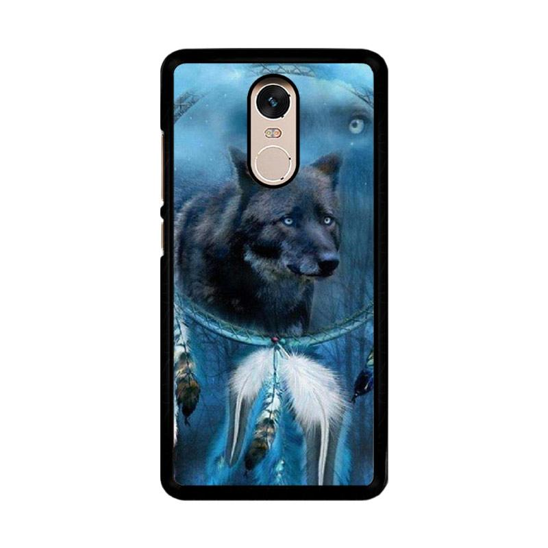 Flazzstore Wolf Dream Catcher F0247 Custom Casing for Xiaomi Redmi Note 4 or Note 4X Snapdragon Mediatek