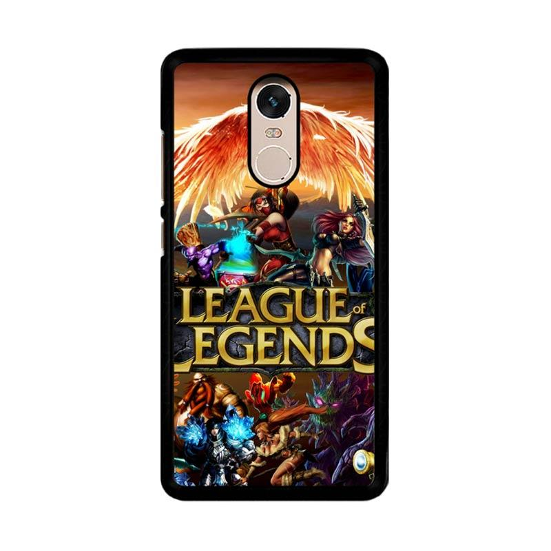 Flazzstore League Of Legends Cover Z0281 Custom Casing for Xiaomi Redmi Note 4 or Note 4X Snapdragon Mediatek