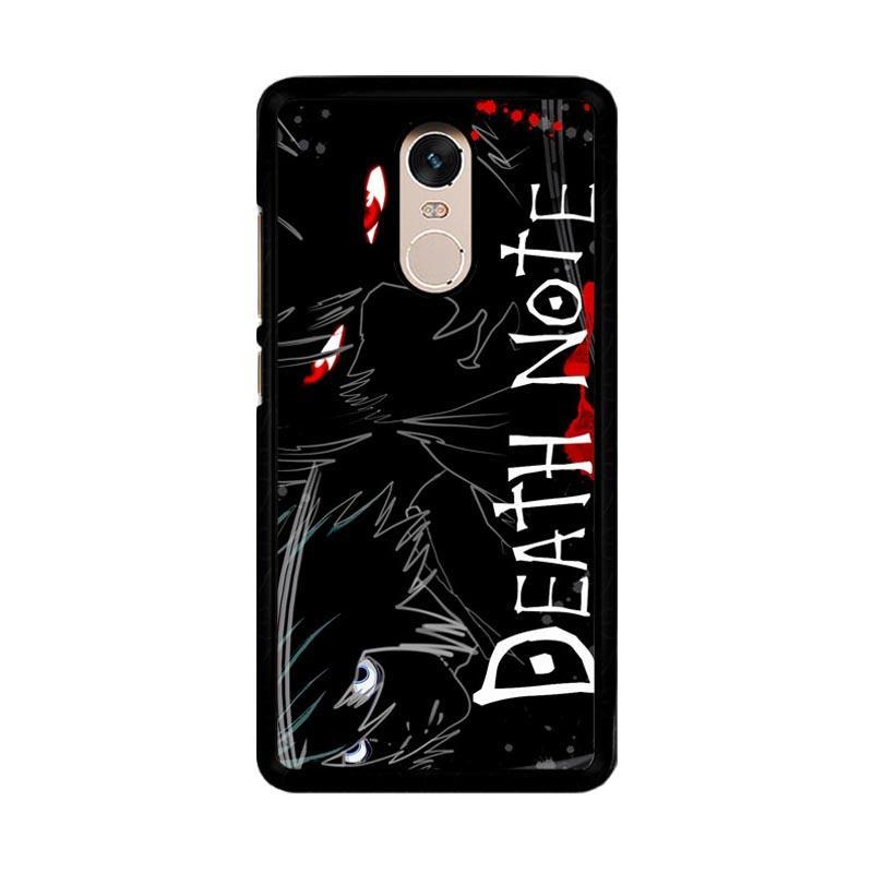 Flazzstore Death Note Anime Z0463 Custom Casing for Xiaomi Redmi Note 4 or Note 4X Snapdragon Mediatek