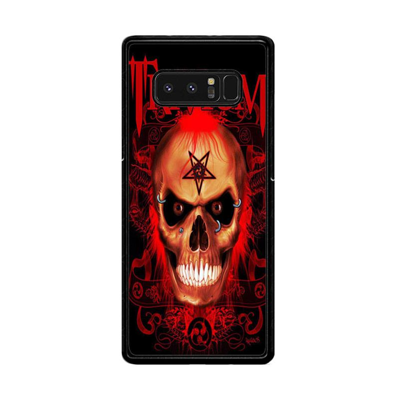 Flazzstore Trivium Red Skull Devil Black Metal Band Logo Z0765 Custom Casing for Samsung Galaxy Note8