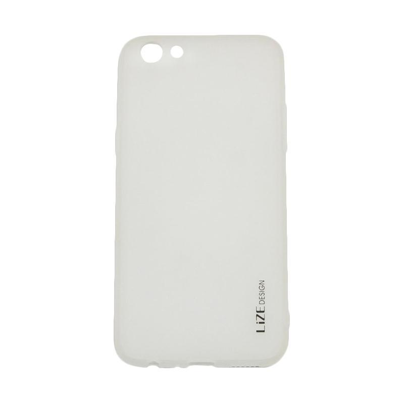 Lize Design Case Slim Anti Glare Silikon Casing for Oppo F3 - Putih