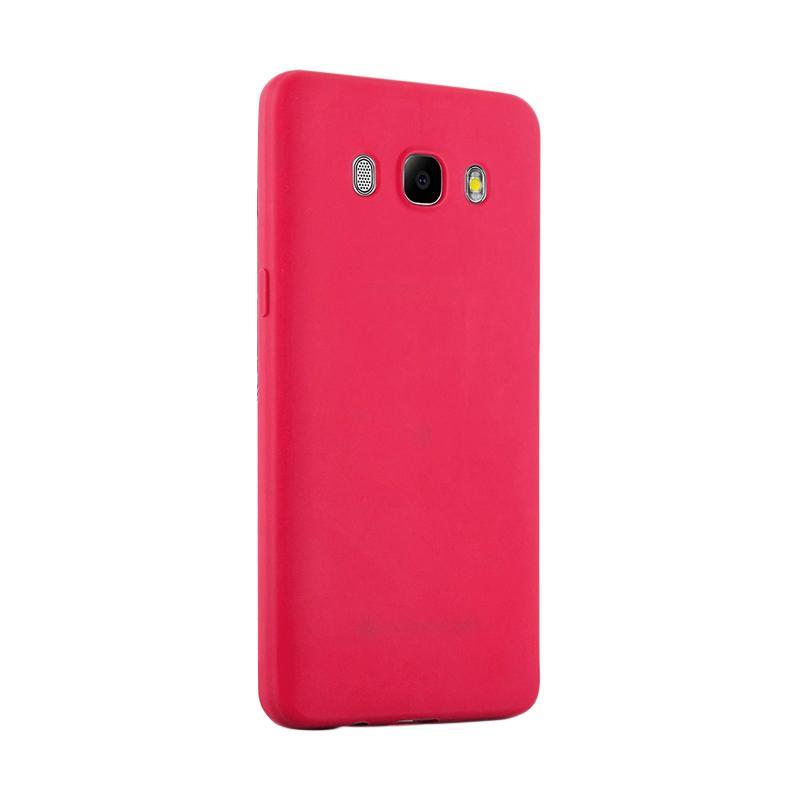 Lize Design Slim Anti Glare Silikon Casing for Samsung Galaxy J5 2016 J510 - Merah