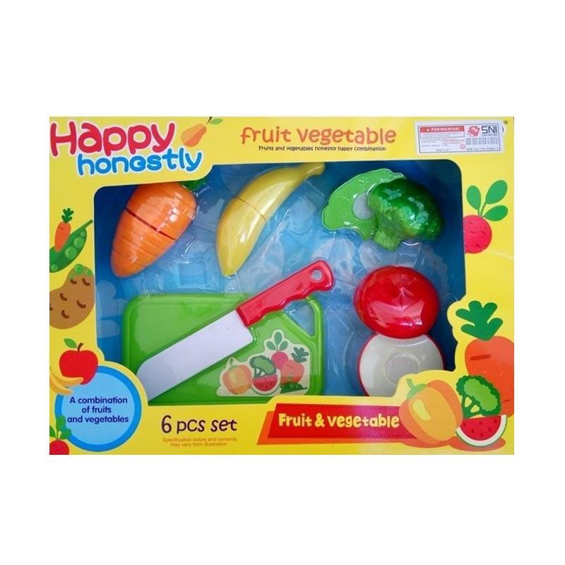 OEM Happy Cutting Fruit Vegetable Potong Permainan Edukasi Anak