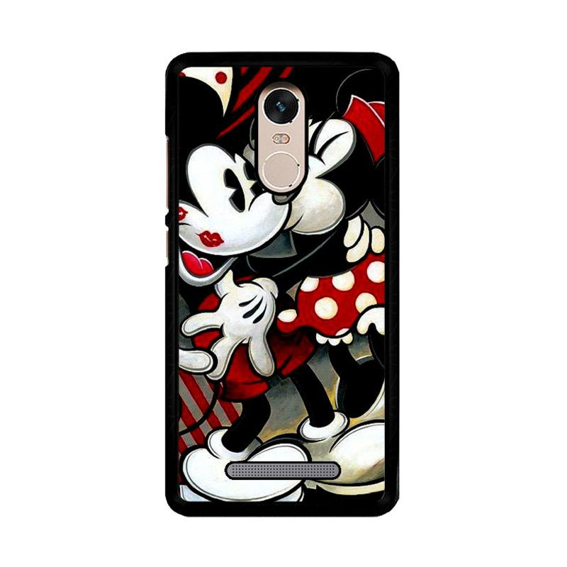 Flazzstore Hugs And Kisses Mickey Minnie Mouse Z1557 Custom Casing for Xiaomi Redmi Note 3 or Note 3 Pro