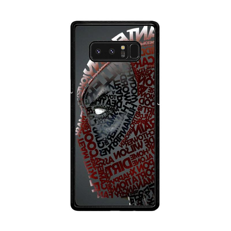 Flazzstore Deadpool Typography Z1684 Custom Casing for Samsung Galaxy Note8