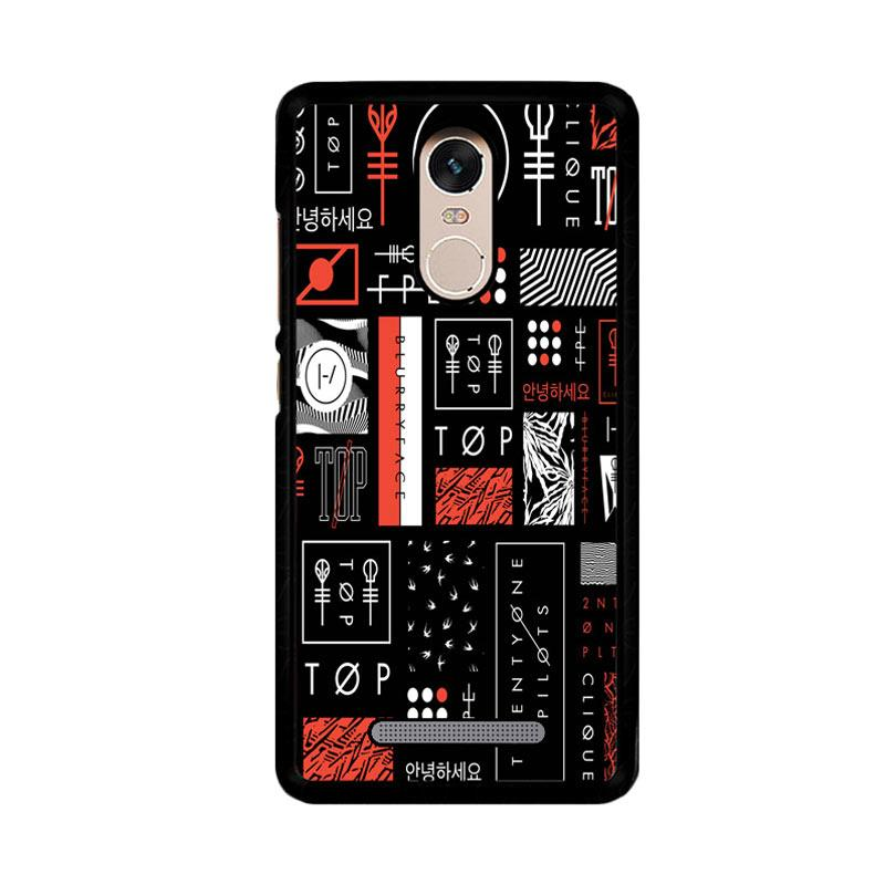 Flazzstore Twenty One Pilots Stripe Logo Z4200 Custom Casing for Xiaomi Redmi Note 3 or Note 3 Pro