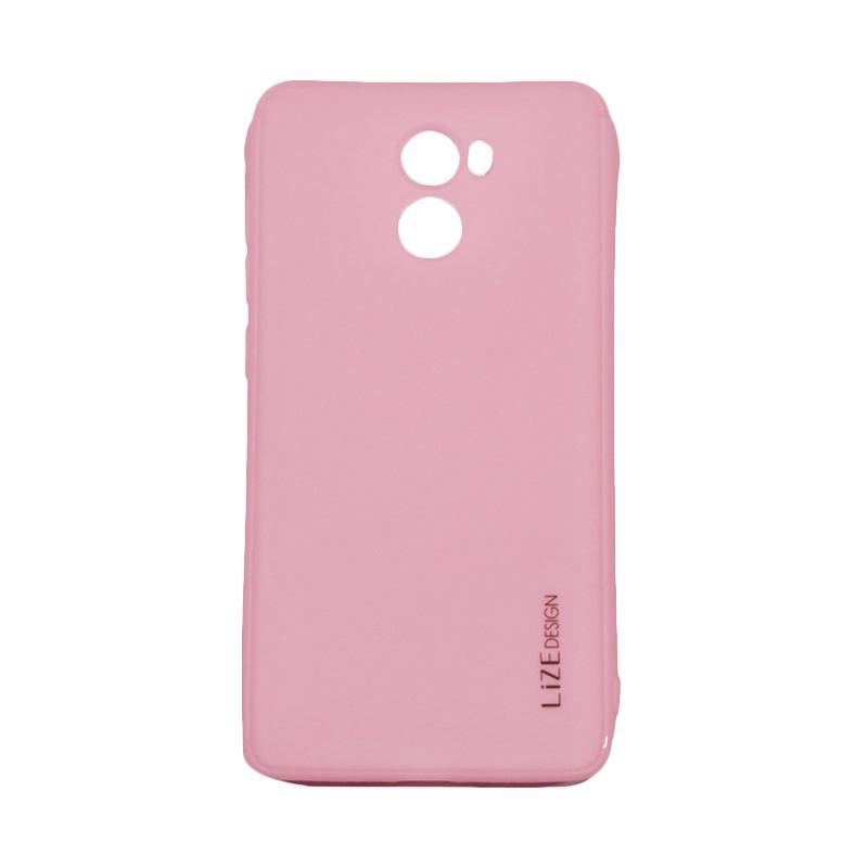 Lize Design Case Slim Anti Glare Silikon Casing for Xiaomi Redmi 4 - Pink