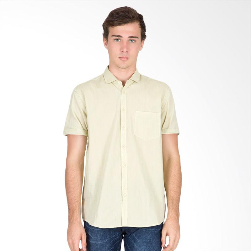 Tendencies Plain Linen Shirt Kemeja Pria - Yellow